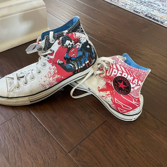 Superman High Top Converse canvas sneakers
